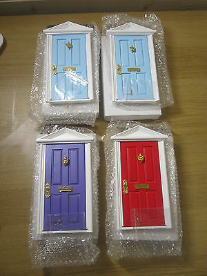 4 x Dolls House Miniature External Front /Internal Wooden Door with keys 1/12 UK