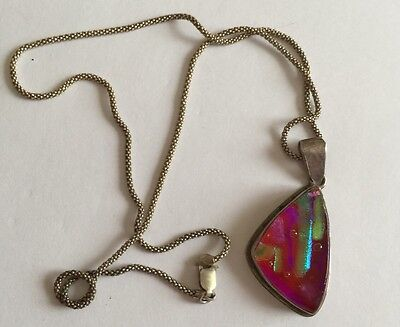 Hallmarked 925 Italy Solid Silver Necklace With Pendant