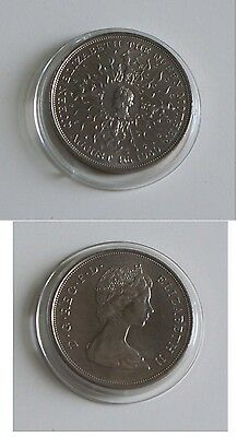 1980 QUEEN MOTHER'S 80TH BIRTHDAY CROWN in coin capsule