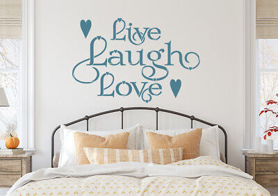 Live Laugh Love Quote Stencil Vintage Shabby Chic  Furniture  Fabric  Crafts QU3