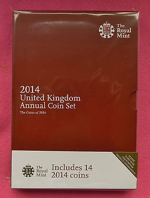 2014 United Kingdom Annual 14 Brilliant Uncirculated Coin Set - Sealed