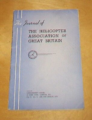 HELICOPTER ASSOC OF GREAT BRITAIN JOURNAL VOL 6 No.3 Jan-March 1953 TRANSPORT
