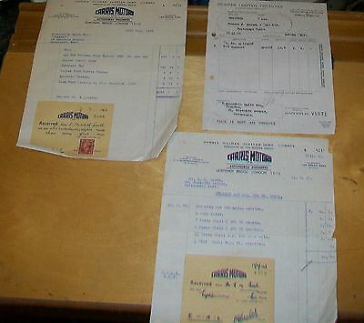 Hillman Minx Saloon Nxu 334 Purchase Receipt July 1953 Carris Motors Lewisham