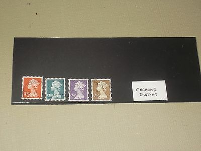 Gb   Set Of  Enchede  Printing  High Value  Stamps   Used