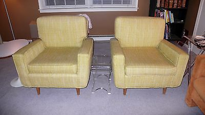 Vintage Pair of 1950's Florence Knoll Lounge Chairs Elegant Mid-Century Modern