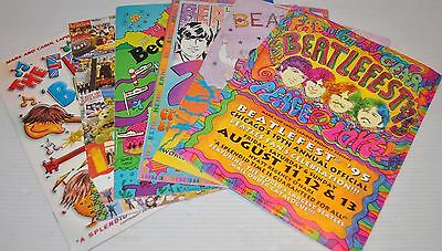 - lot of 6 BEATLEFEST Catalogs, Programs The Beatles 1995-2001