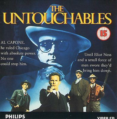 THE UNTOUCHABLES PHILIPS VCD CDi IN SUPERB CONDITION 2 VCD