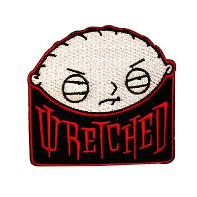 Officially Licensed Family Guy Stewie Griffin Wretched Iron On Applique Patch