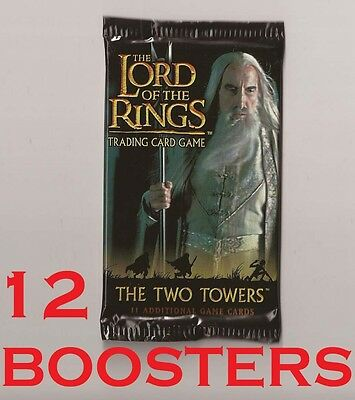 Lord of the Rings trading card game The Two Towers 12 booster packs TCG