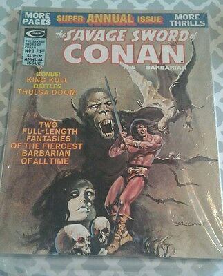 The Savage Sword Of Conan The Barbarian No. 1 Super Annual Issue