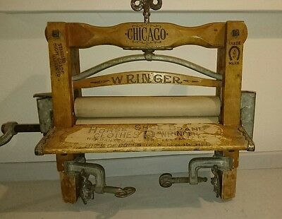 Antique Chicago #12 Clothes Wringer/Mangle The American Wringer Co 1888