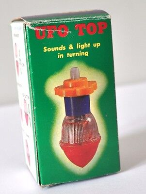 Vintage Ufo Top,   Sounds & Lights Up While Turning