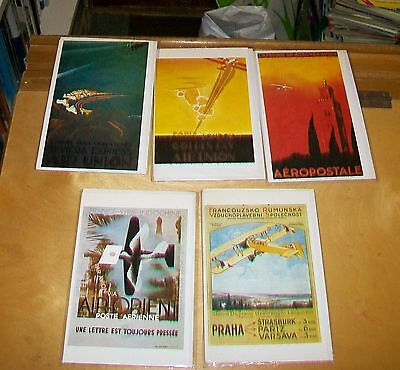 AIR FRANCE POSTERS CARDS. Editions ARNO. Blank card. New condition (5) 1921-32