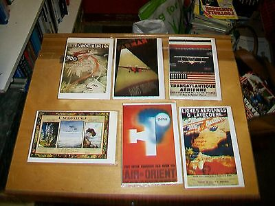 AIR FRANCE POSTERS CARDS. Editions ARNO. Blank cards. New condition (6) 1921-32