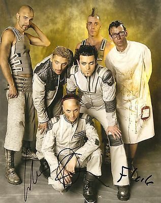 Rammstein Signed 8X10 Photo Proof Coa Autographed 2