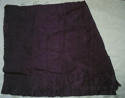 Antique PLUM SILK Fabric French Doll Dress Fashion Skirt Pleated Ruffles