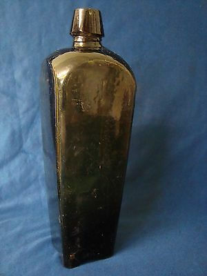 An Antique Cased Gin, Taper Gin Bottle.
