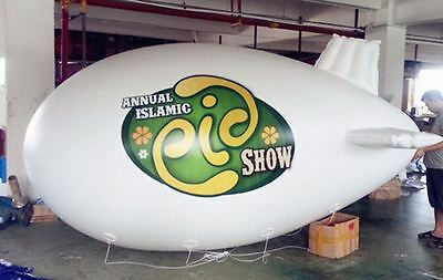 custom made 4m PVC advertising promo Inflatable Blimp and 2m Inflatable Balloon