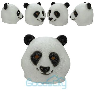 Halloween Props Creepy Panda Head Mask Latex Rubber Cosplay Costume Party Toys