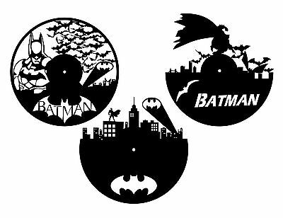 DXF CDR and EPS File For CNC Plasma or Laser Cut - Batman Clocks