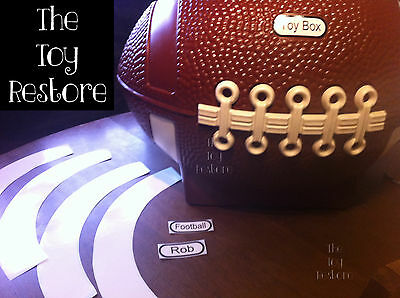 New Replacement Decals Stickers fits Little Tikes Football Toy Box Customize it