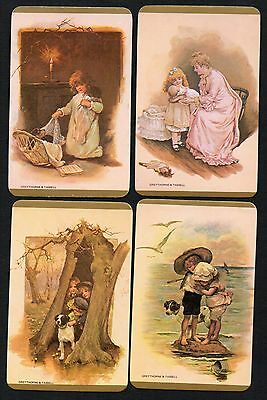 Vintage Blank Back Swap Cards :  1970'S OLD WORLD TIMES X 4