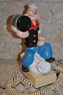 Vintage 1982 KFS POPEYE the Sailor Man Telephone Push Button Phone Cord WORKS