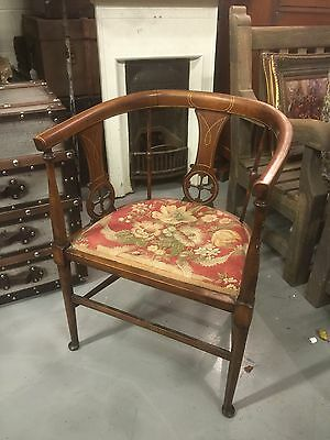 Quality Georgian Inlaid Mahogany Library Reading Chair. Open To Offers.