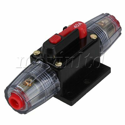 12V 40A Fuse Holder Car Audio Stereo Circuit Breaker with Self Reset Button