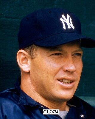 Mickey Mantle of the New York Yankees During a Spring Training Game Photo