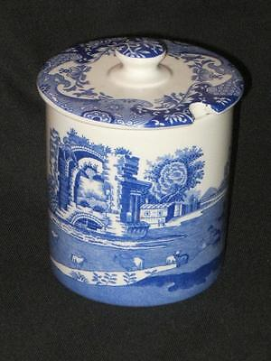 Spode Blue Italian Pattern Lidded Preserve Pot