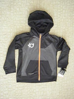 NIKE KD Boy's size 7 Fleece Hoodie Jacket NEW NWT black Kevin Durant