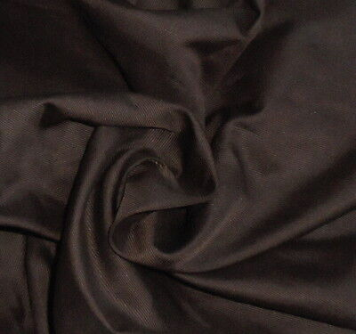 "SILK Fabric French Doll Dress Fashion Scrapbook Ant. 19"" selvage Dark Brown"