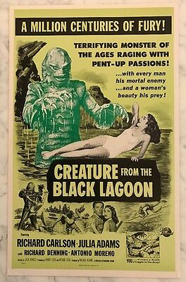 """Vintage Creature From The Black Lagoon Movie Card  14""""X 22"""" Benton Card Co."""