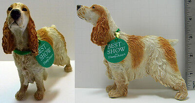 Country Artists Best in Show Tan White Cocker Spaniel, MIB! FREE in USA SHIPPING