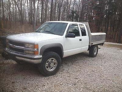 1998 Chevrolet C/K Pickup 2500  Chevy Extended Cab Flat bed Truck White Aluminium Boxes '97