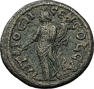 CARACALLA 198AD Antioch Pisidia Tyche Authentic Ancient Roman Coin i59323