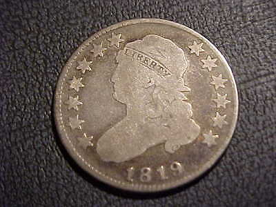 1819  VG+  Large Size Capped Bust Quarter  B-3  25/5 variety