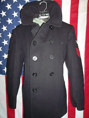 WWII U.S.Navy Issued 10 Button Pea Coat-Chest-36