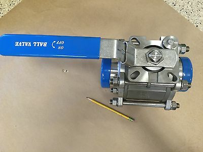 "4"" Ball Valve T-316SS 3-Piece Butt-Weld Ends Sanitary Tubing NEW"