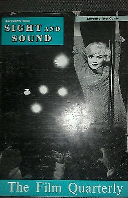 """MARILYN MONROE on cover 1960's Magazine """"Sight and Sound"""""""