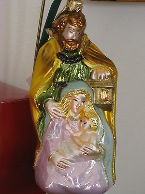Vintage Christmas ornament,Holy Family,The Vatican Library Polonaise Collection.