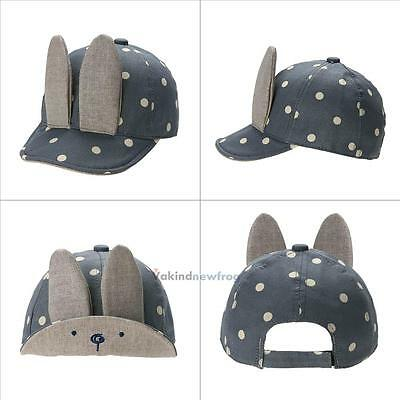 Toddler Kids Baby Boy Girls Infant Cute Rabbit Ears Denim Baseball Sun Cap Hat