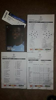 Manchester City v Monaco 2016-17 with Uefa teamsheets, full-time report & ticket