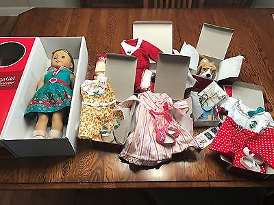 NEW! AMERICAN GIRL DOLL KIT LOT w/ DOLL, DOG, OUTFITs and ACCESSORIES
