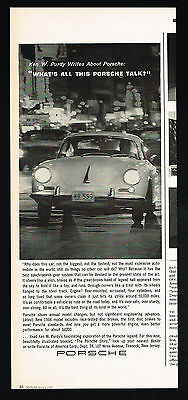 1964 Porsche 356 Coupe Car At Night Ken W Purdy Vintage Print Ad