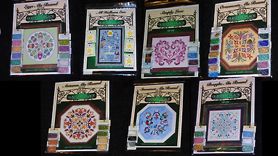 GLENDON PLACE Counted Cross Stitch Pattern with Mill Beads, Buttons YOU CHOOSE!