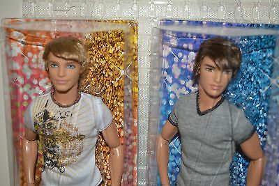Mattel Barbie VHTF Fashionistas Ken + Ryan LOT ROOTED hair Articulated body 2012