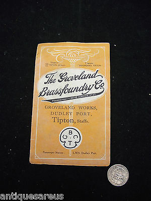 The Groveland Works Dudley Port  Brassfoundry Tipton Original Brochure