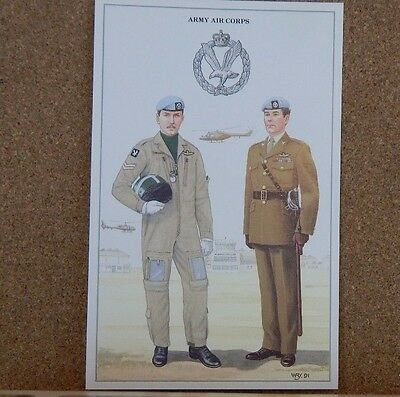 Military Uniforms Postcard the army Air Corps  unposted